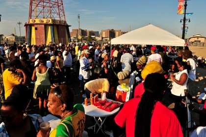Crowd at Coney Island Reggae