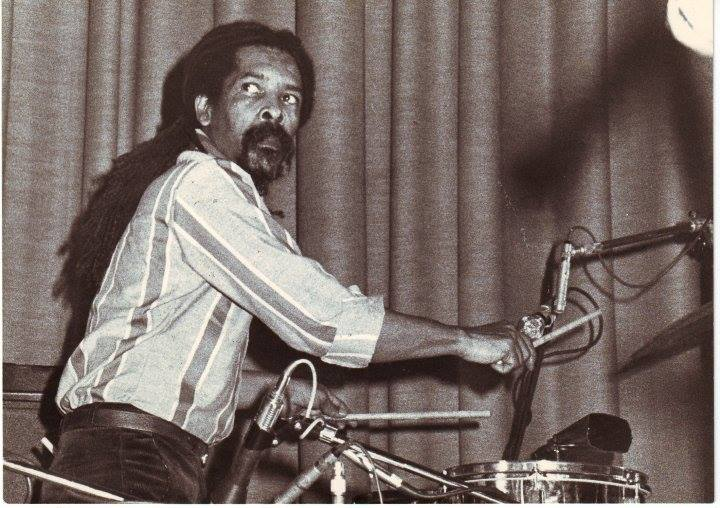 Larry McDonald performing, vintage photo