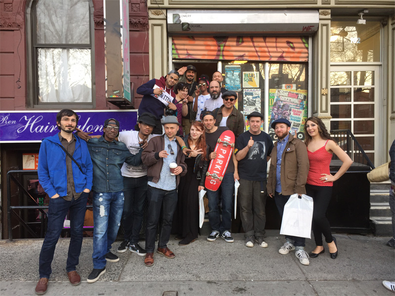 The crew at Deadly Dragon record shop on its final day
