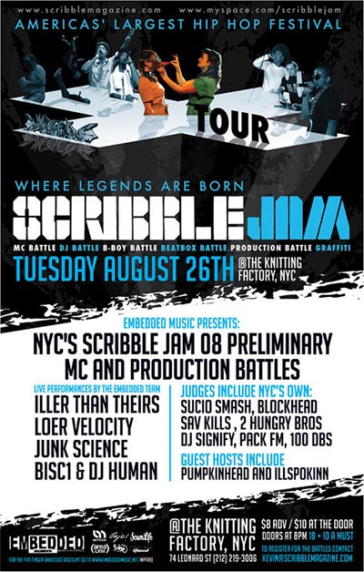 Scribble Jam Preliminaries in NYC
