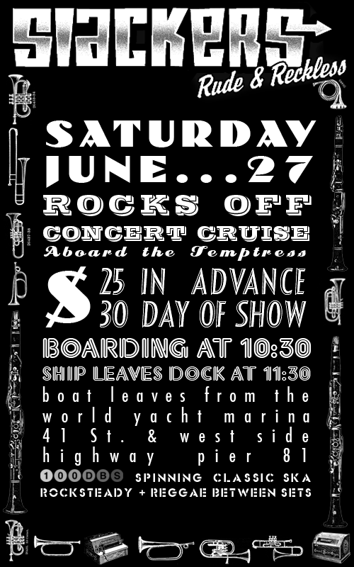 Booze Cruise with The Slackers & 100dBs
