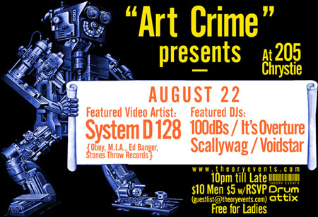 System D-128 at ArtCrime