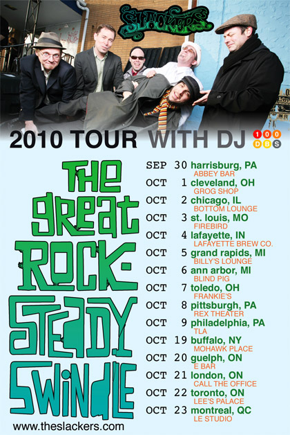 The Slackers' Fall 2010 Tour with DJ 100dBs
